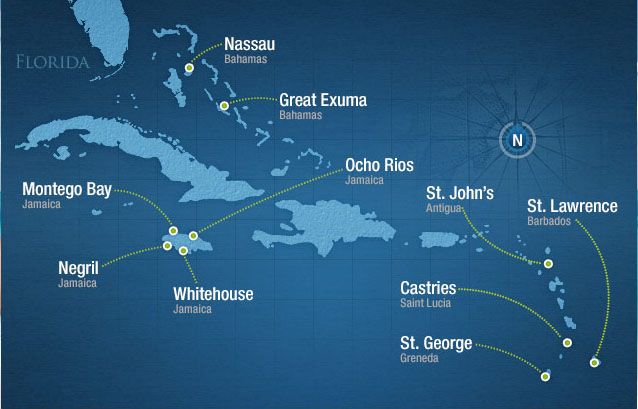 Sandals Locations Around the Caribbean