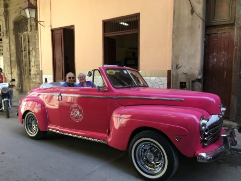 Riding in Havana