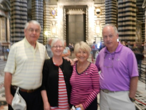 Friends in Siena Cathedral