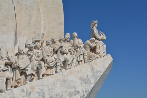 Monument to the Discoveries in Belém, Lisbon, Portugal.