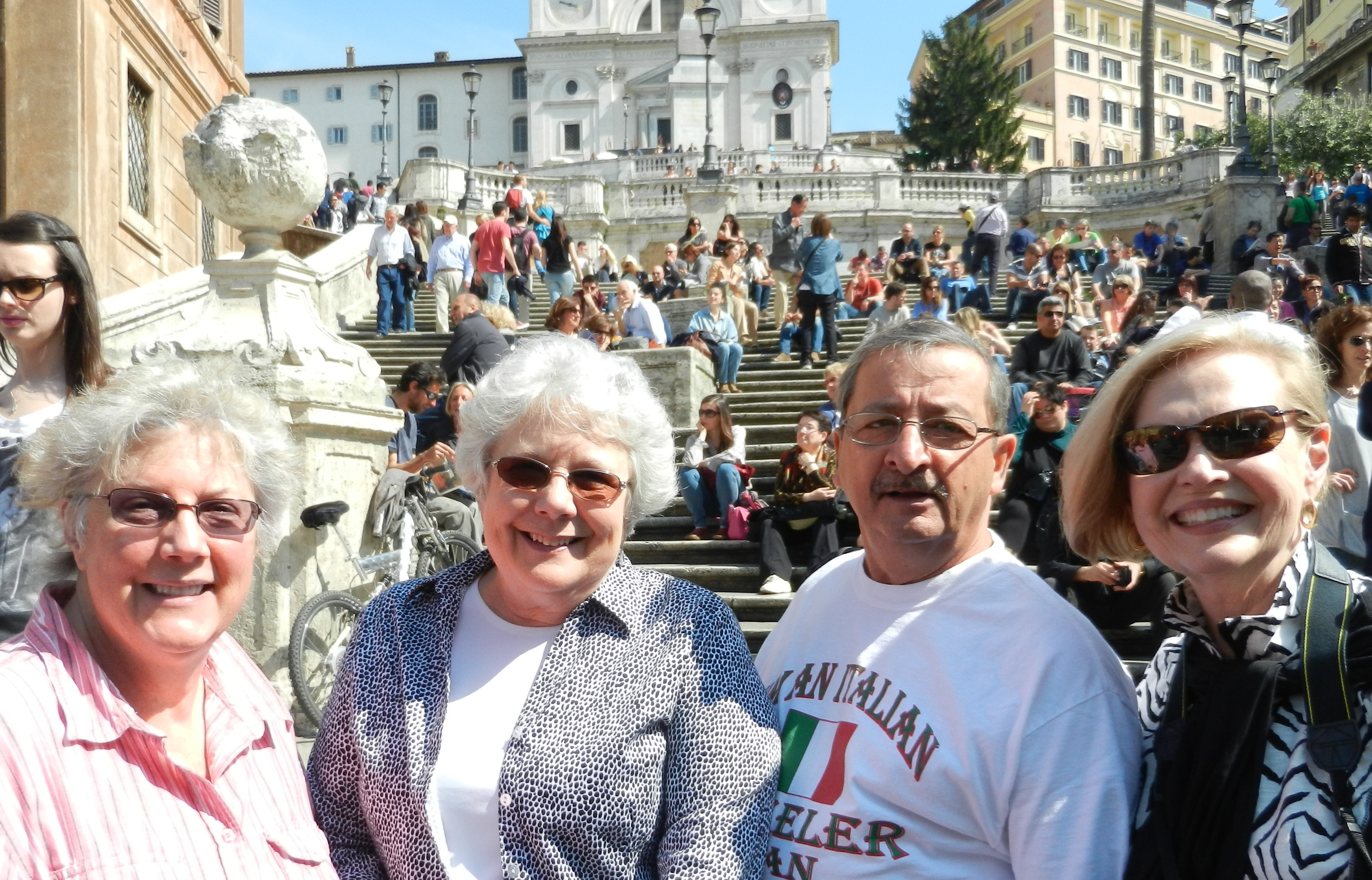 Friends at the Spanish Steps