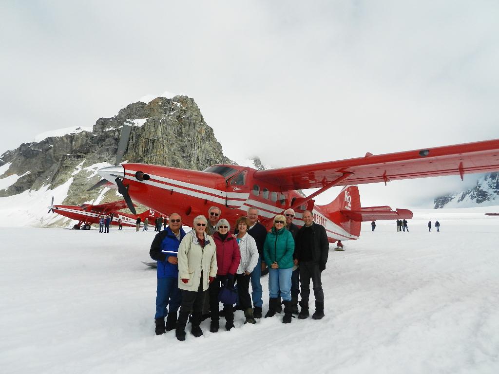 Landing on a Glacier in Alaska